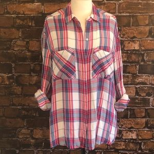 Express Boyfriend Button Down Large